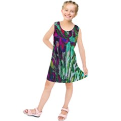 Bright Tropical Background Abstract Background That Has The Shape And Colors Of The Tropics Kids  Tunic Dress
