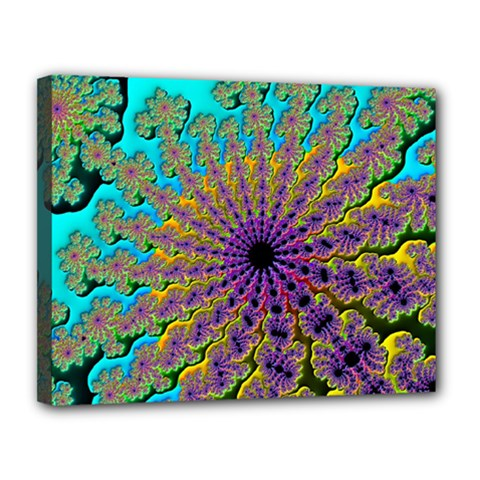 Beautiful Mandala Created With Fractal Forge Canvas 14  x 11