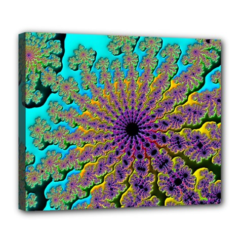 Beautiful Mandala Created With Fractal Forge Deluxe Canvas 24  X 20