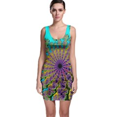 Beautiful Mandala Created With Fractal Forge Sleeveless Bodycon Dress