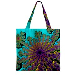 Beautiful Mandala Created With Fractal Forge Grocery Tote Bag