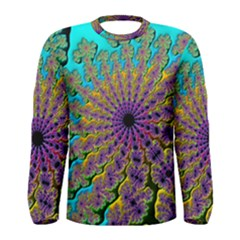 Beautiful Mandala Created With Fractal Forge Men s Long Sleeve Tee