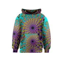 Beautiful Mandala Created With Fractal Forge Kids  Pullover Hoodie