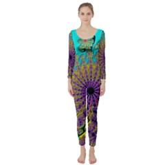 Beautiful Mandala Created With Fractal Forge Long Sleeve Catsuit