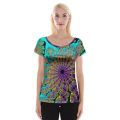 Beautiful Mandala Created With Fractal Forge Women s Cap Sleeve Top