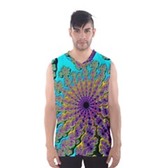 Beautiful Mandala Created With Fractal Forge Men s Basketball Tank Top