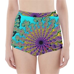 Beautiful Mandala Created With Fractal Forge High-Waisted Bikini Bottoms