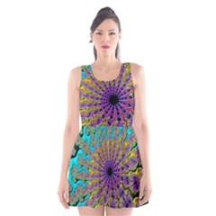 Beautiful Mandala Created With Fractal Forge Scoop Neck Skater Dress