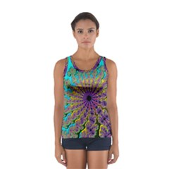 Beautiful Mandala Created With Fractal Forge Women s Sport Tank Top