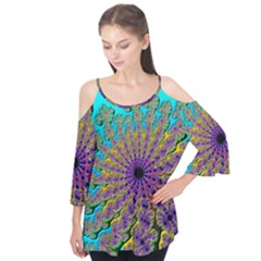 Beautiful Mandala Created With Fractal Forge Flutter Tees
