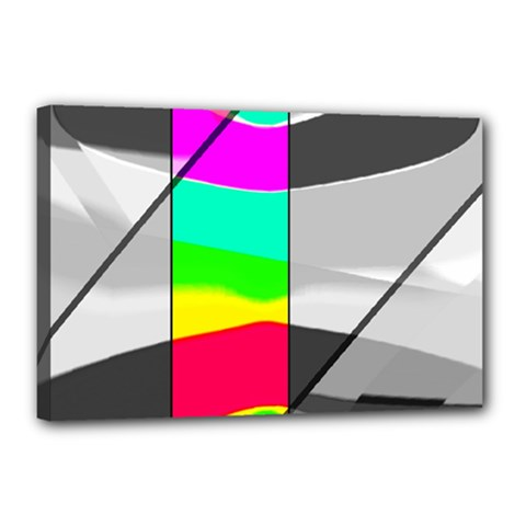 Colors Fadeout Paintwork Abstract Canvas 18  x 12