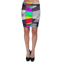 Colors Fadeout Paintwork Abstract Bodycon Skirt