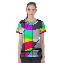 Colors Fadeout Paintwork Abstract Women s Cotton Tee