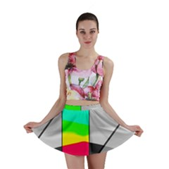 Colors Fadeout Paintwork Abstract Mini Skirt