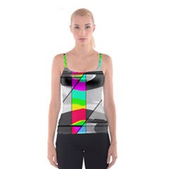 Colors Fadeout Paintwork Abstract Spaghetti Strap Top