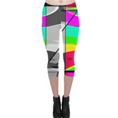 Colors Fadeout Paintwork Abstract Capri Leggings