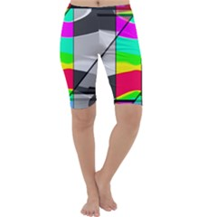 Colors Fadeout Paintwork Abstract Cropped Leggings