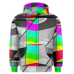 Colors Fadeout Paintwork Abstract Men s Zipper Hoodie
