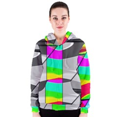 Colors Fadeout Paintwork Abstract Women s Zipper Hoodie