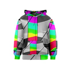 Colors Fadeout Paintwork Abstract Kids  Zipper Hoodie