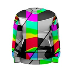 Colors Fadeout Paintwork Abstract Women s Sweatshirt