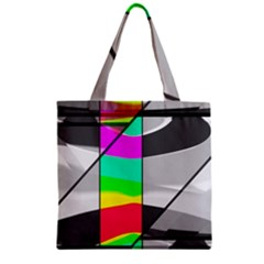 Colors Fadeout Paintwork Abstract Zipper Grocery Tote Bag