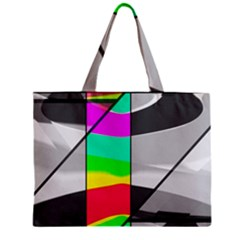 Colors Fadeout Paintwork Abstract Zipper Mini Tote Bag