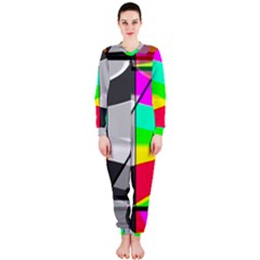 Colors Fadeout Paintwork Abstract Onepiece Jumpsuit (ladies)