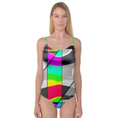 Colors Fadeout Paintwork Abstract Camisole Leotard