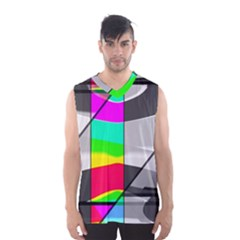 Colors Fadeout Paintwork Abstract Men s Basketball Tank Top