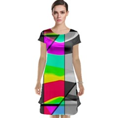 Colors Fadeout Paintwork Abstract Cap Sleeve Nightdress