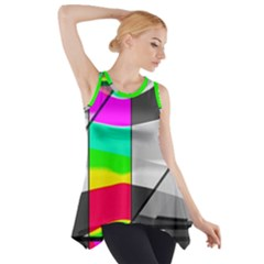 Colors Fadeout Paintwork Abstract Side Drop Tank Tunic
