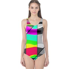 Colors Fadeout Paintwork Abstract One Piece Swimsuit