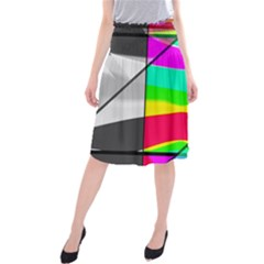 Colors Fadeout Paintwork Abstract Midi Beach Skirt