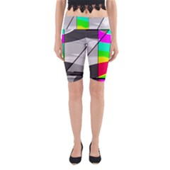 Colors Fadeout Paintwork Abstract Yoga Cropped Leggings