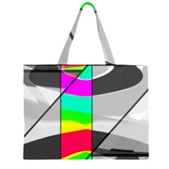 Colors Fadeout Paintwork Abstract Large Tote Bag