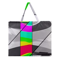 Colors Fadeout Paintwork Abstract Zipper Large Tote Bag