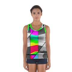 Colors Fadeout Paintwork Abstract Women s Sport Tank Top