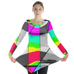 Colors Fadeout Paintwork Abstract Long Sleeve Tunic