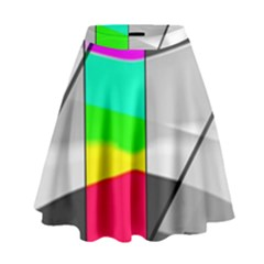 Colors Fadeout Paintwork Abstract High Waist Skirt