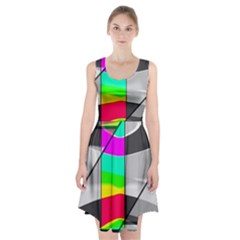 Colors Fadeout Paintwork Abstract Racerback Midi Dress