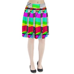 Colors Fadeout Paintwork Abstract Pleated Skirt