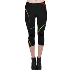 Digital Computer Graphic Capri Leggings