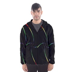 Digital Computer Graphic Hooded Wind Breaker (Men)