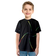 Digital Computer Graphic Kids  Sport Mesh Tee