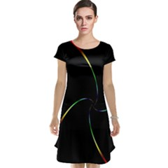 Digital Computer Graphic Cap Sleeve Nightdress