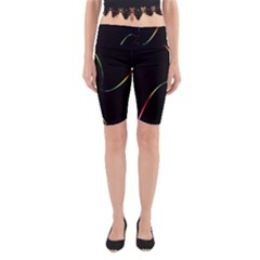 Digital Computer Graphic Yoga Cropped Leggings