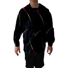 Digital Computer Graphic Hooded Wind Breaker (Kids)