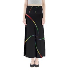 Digital Computer Graphic Maxi Skirts