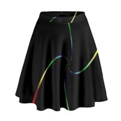 Digital Computer Graphic High Waist Skirt